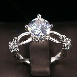 925 FLOWER WEDDING RING